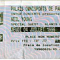 Neil young & crazy horse - jeudi 4 juillet 1996 - pop bercy (paris)