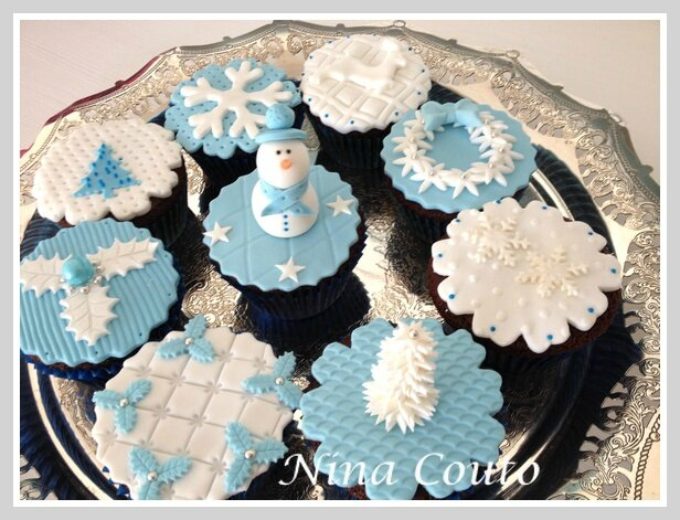 cupcakes noel blanc et bleu1