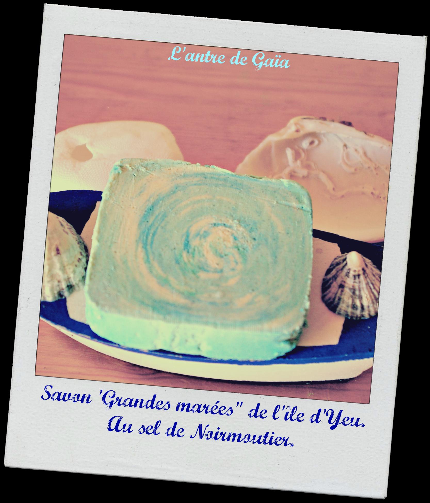 Savon à la fleur de sel de Noirmoutier ( Saponification à froid)