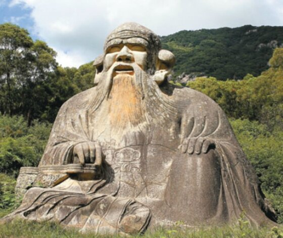 Lao Tseu, sculpture à Quanzhou