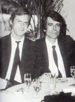 Jean-Philippe Ottmann (à droite) dans les années 80 aux côtés de Claude Watripon, une autre figure parisienne