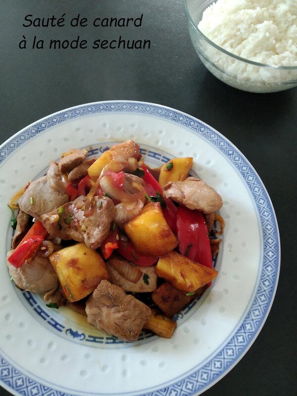 Sauté de poulet à la mode sechuan