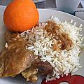 Gourmandises du dimanche- cuisses de poulet à l'orange