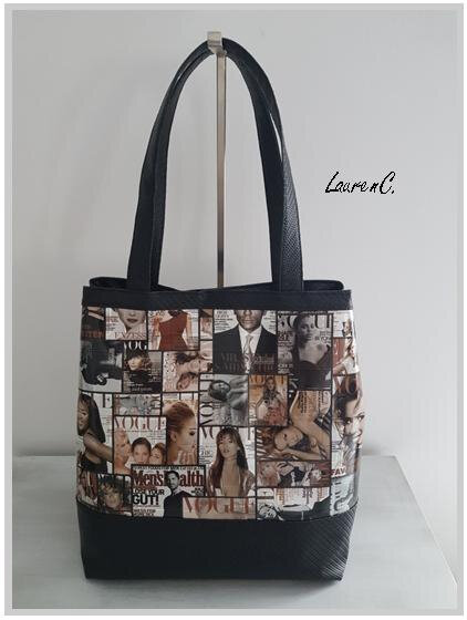 SAC SIMILI VOGUE TRESSE NOIR