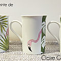 Mugs flamants roses