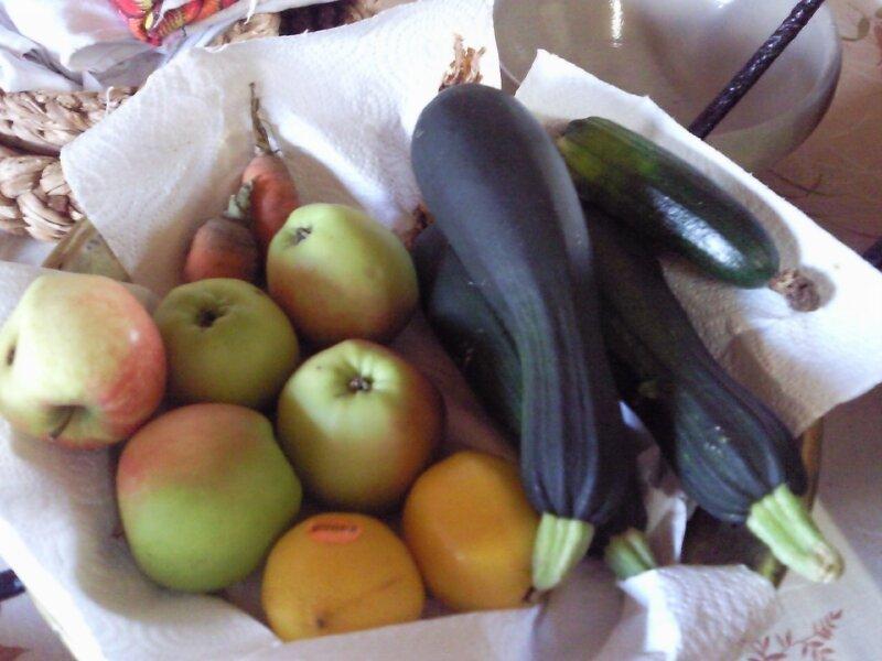 Pommes courgettes etc