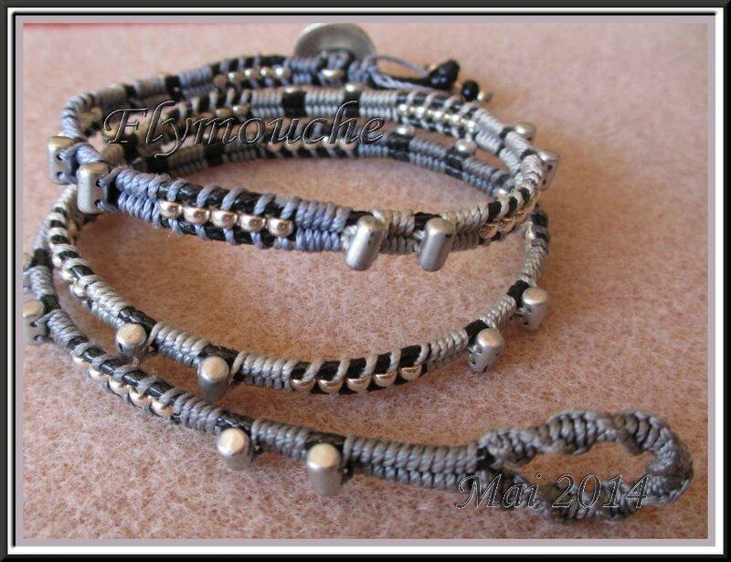 bracelet 3t gris wrapramé