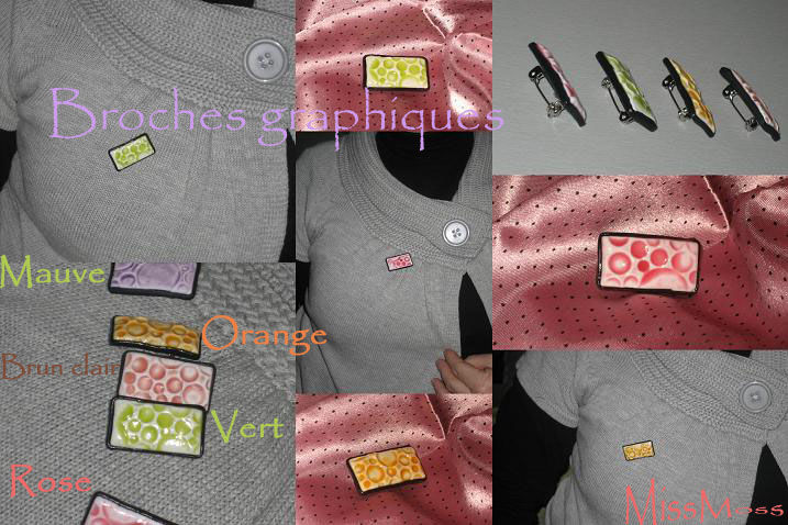 Broches graphiques