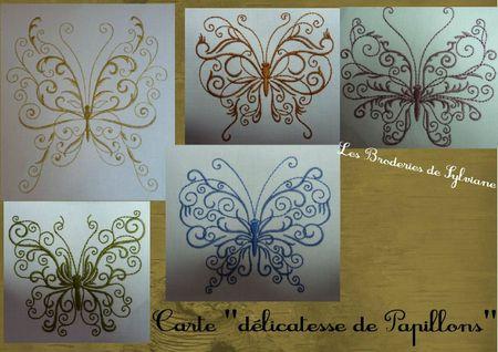 Carte délicatesse de papillons