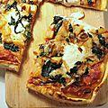 Pizza aux pommes de terre, oignons, épinards & beaufort