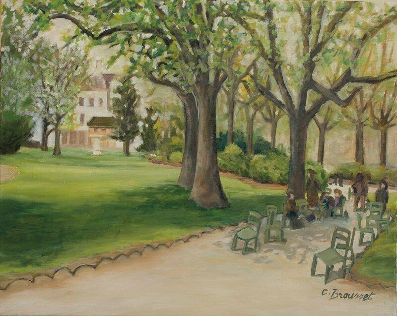 déjeuner au jardin du Luxembourg
