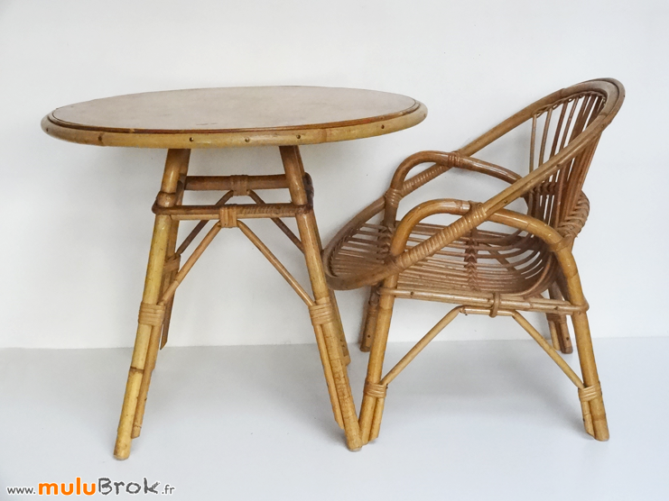 FAUTEUIL-COQUILLE-TABLE-ROTIN-ENFANT-muluBrok-Vintage
