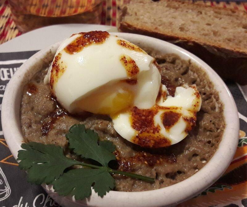 purée de champignons et oeuf mollet (1)