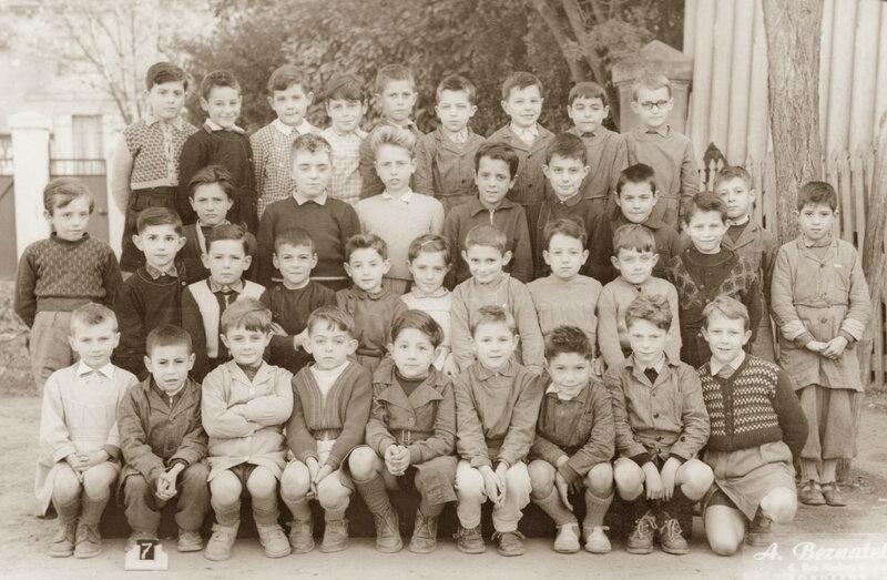 CE1 1954 1955 école de La Souys