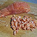 Tartare de saumon aux lentilles **