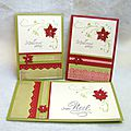 Carte de voeux poinsettia traditionnel...
