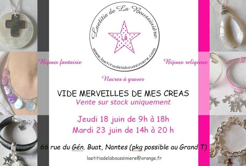Vente Laetitia de La Boussinière - Bijoux et Au nom du Père - Bijoux