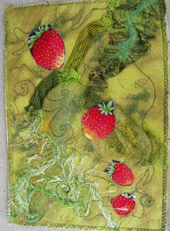 fraises tissu fripé laines piquetées quilting machine