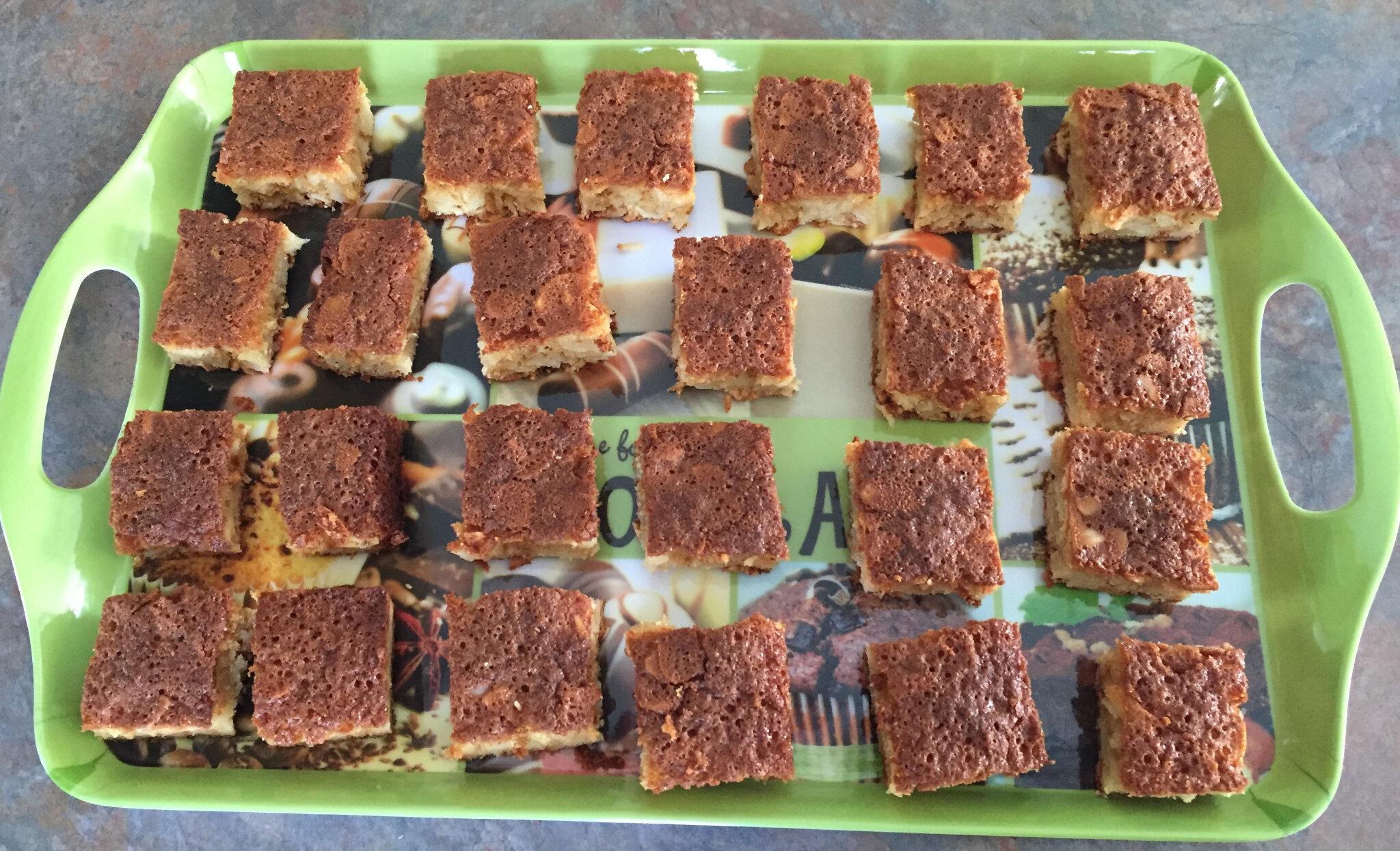 Gâteau blancs d'oeufs aux amandes effillées