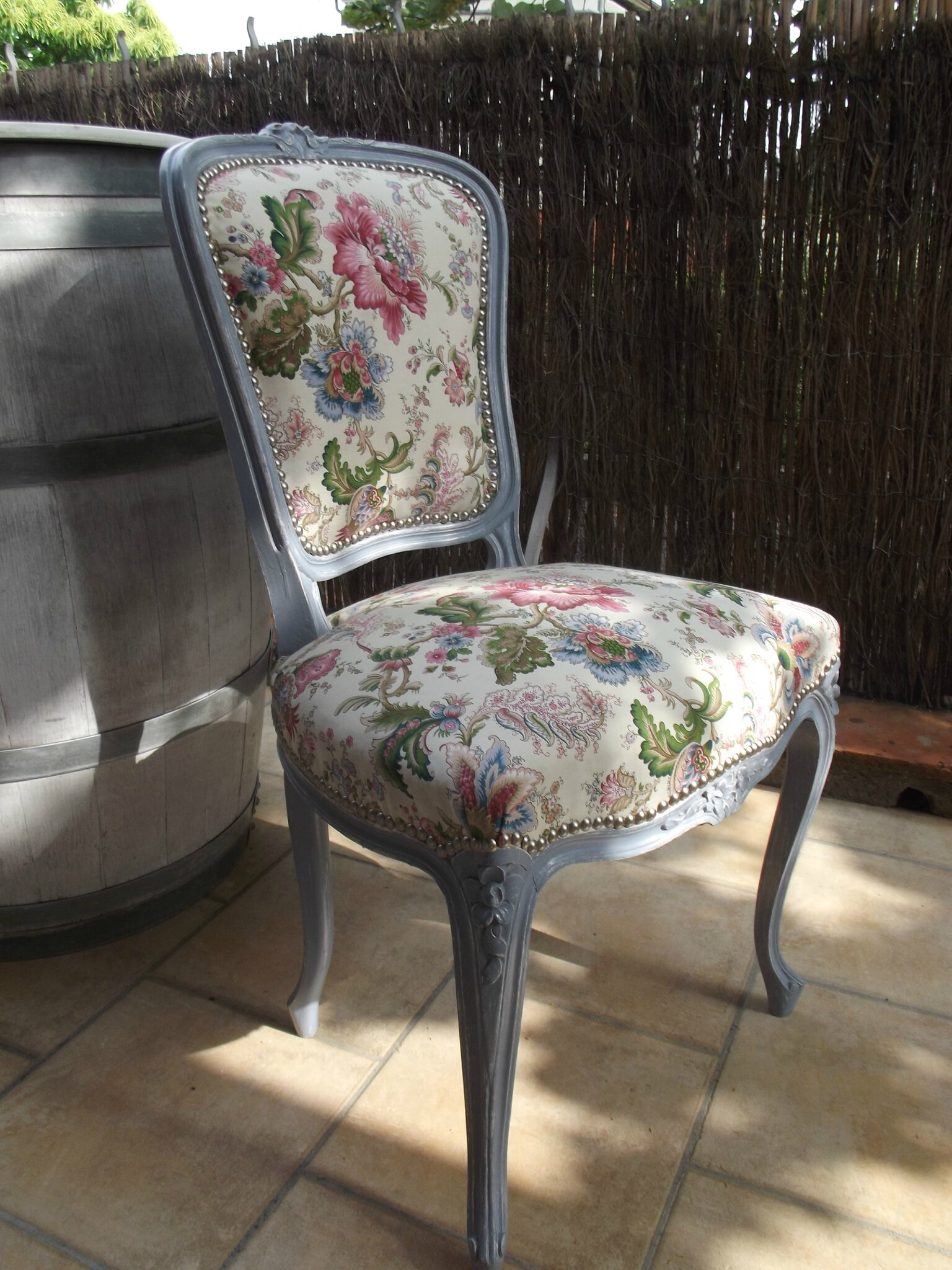 Chaise Louis Xv Relookee Patine Deco