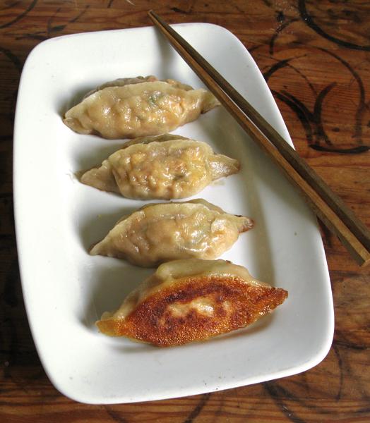 Raviolis kimchi