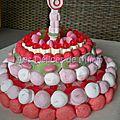 Un gâteau de bonbons pour les 6 ans de valina
