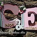 Lettre decorative mariage 40 cm