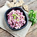 Salade de betterave au yaourt et tahini