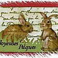 Atc ... easter bunnies