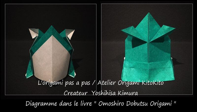 Atelier Origami KitoKito_Origami Animaux Drôles_Grenouille