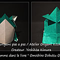 Origami animaux drôles -grenouille-