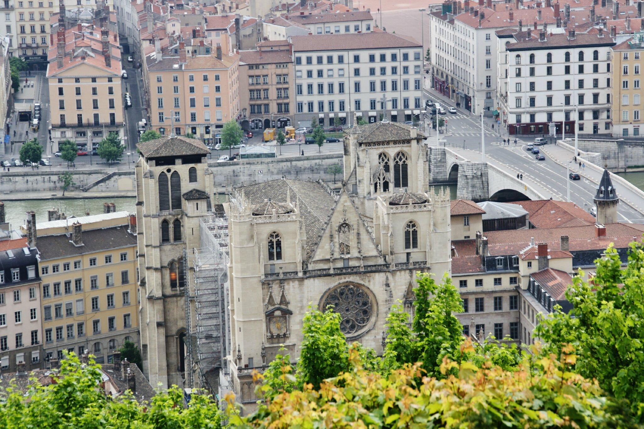Cathédrale St Jean depuis Fourvière