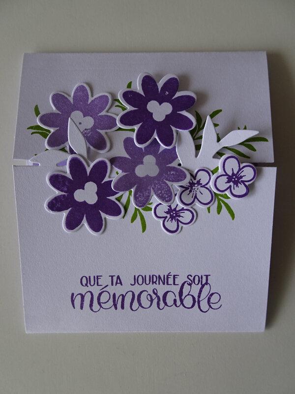 27d Atelier Carte enveloppe 3 plis Lot Bouquet Blooms