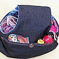 Mon nouveau sac ...sac-à-bras sac-à-champignons sac-à-tricot manchon et même plus c'est comme vous voudrez...