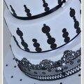 Gateau mariage noir et blanc nimes 1