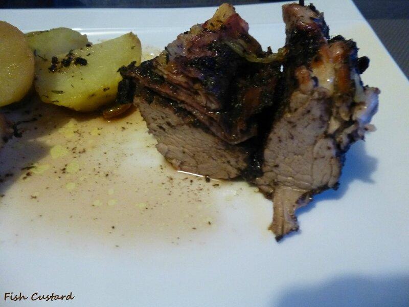 Filet mignon farci à la tapenade d'olives noires et jambon cru fumé (13)