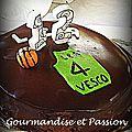 Gâteau au chocolat ou la barre chocoday de christophe felder