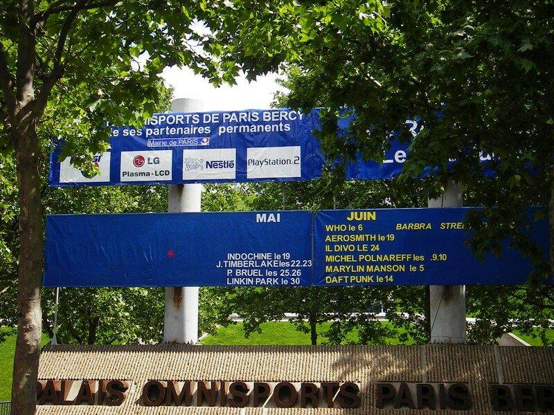 Panneau d'affichage de Bercy