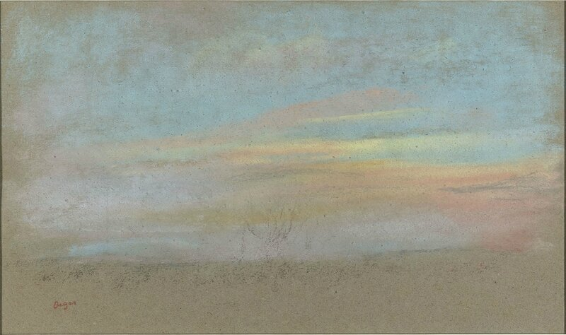 Hilaire-Germain-Edgar Degas, 'Study of a Sky', about 1869