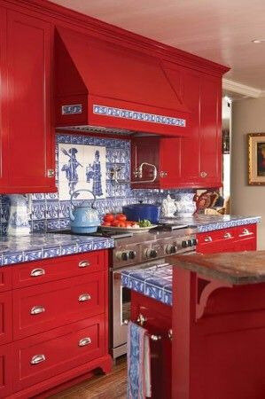 02dc49cc999501f4dddb27f61e0c7f76--red-kitchen-cabinets-kitchen-in-red