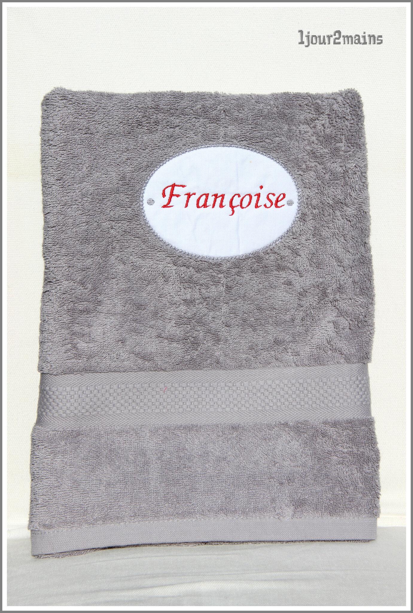 serviette douche françoise