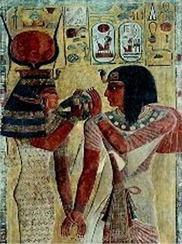 Fresque__gyptienne__Sethi_1er_et_Hathor