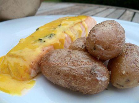saumon au beurre blanc safrané 005