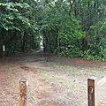 Entrée du sentier de la Montagne des Singes