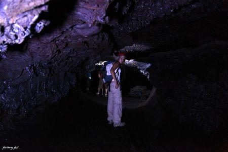 in the lava tube