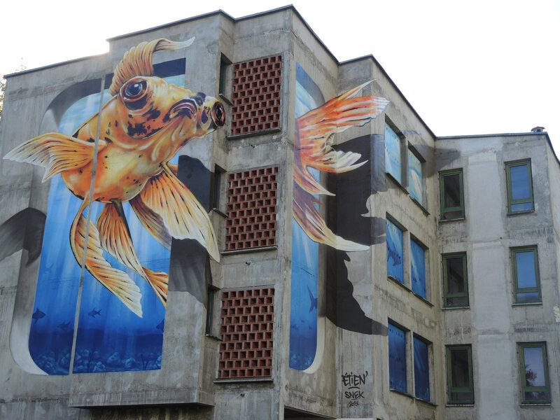 Bayonne, Festival Street art Points de vue 2019, fresque ETIEN