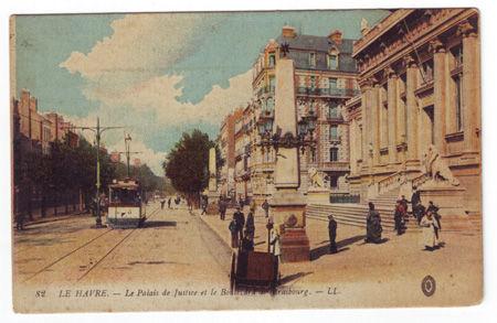 76 - LE HAVRE - Palais de Justice et Boulevard de Strasbourg