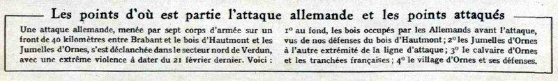 Attaque All Verdun Le Miroir 05 03 1916