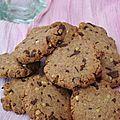 Cookies aux graines de sarrasin et fèves de cacao