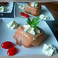 Mousse de courgettes dans son habit de saumon (timbale de jeanne)